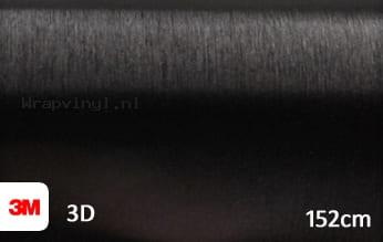 3M 1080 BR212 Brushed Black Metallic wrap vinyl
