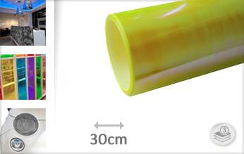 Flipflop geel doorzichtig wrap vinyl