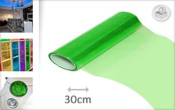 Groen doorzichtig wrap vinyl