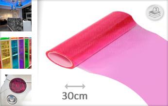 Roze doorzichtig wrap vinyl