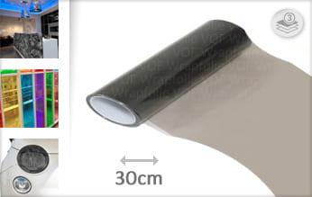 Smoke doorzichtig wrap vinyl