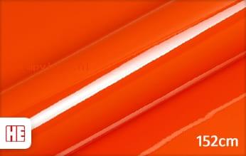 Hexis HX20165B Mandarin Red Gloss wrap vinyl
