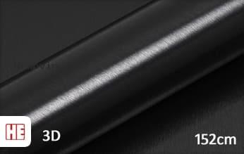 Hexis HX30BA889B Brushed Alu Coal Black Gloss wrap vinyl