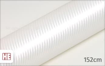 Hexis HX30CABPEB Carbon Pearl White Gloss wrap vinyl
