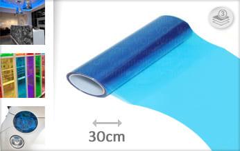 Blauw transparant wrap vinyl