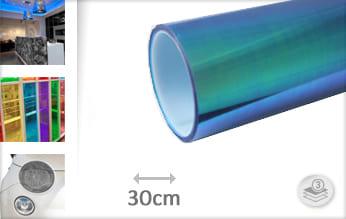 Flipflop blauw transparant wrap vinyl
