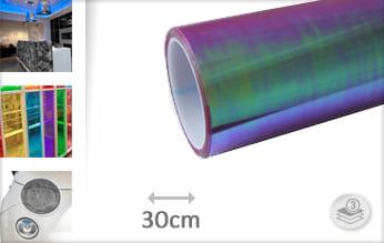 Flipflop paars transparant wrap vinyl