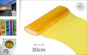 Geel transparant wrap vinyl