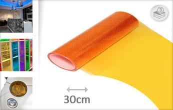 Oranje transparant wrap vinyl