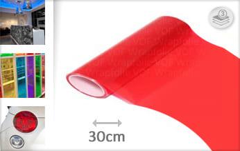 Rood transparant wrap vinyl