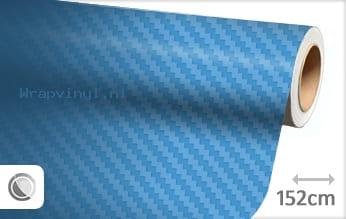 Babyblauw 3D carbon wrap vinyl