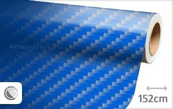 Blauw 2D carbon wrap vinyl