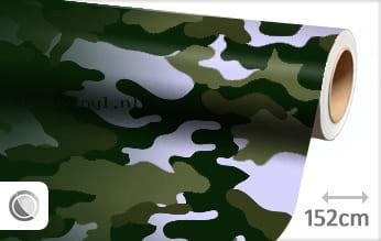Camouflage groen wrap vinyl
