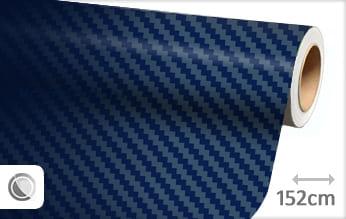 Donkerblauw 3D carbon wrap vinyl