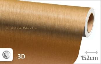 Geborsteld aluminium goud wrap vinyl