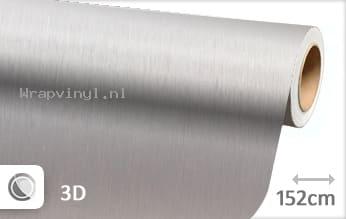 Geborsteld aluminium zilver wrap vinyl