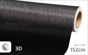 Geborsteld aluminium zwart wrap vinyl