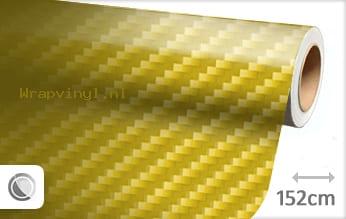 Geel 2D carbon wrap vinyl