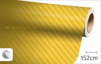 Geel 3D carbon wrap vinyl