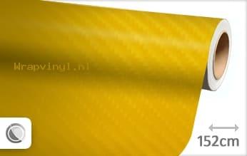 Geel 4D carbon wrap vinyl