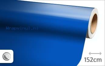 Glans blauw wrap vinyl
