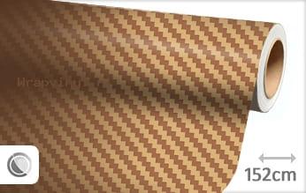 Goud 3D carbon wrap vinyl