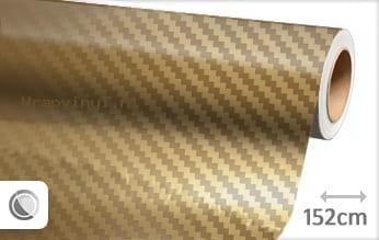 Goud chroom 3D carbon wrap vinyl