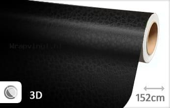 Leder look wrap vinyl zwart
