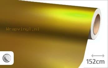 Mat chroom geel wrap vinyl