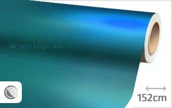 Mat chroom lichtblauw wrap vinyl