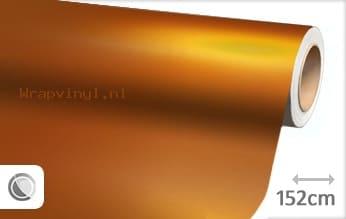 Mat chroom oranje wrap vinyl