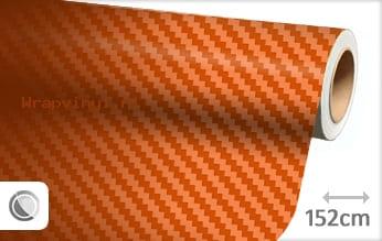 Oranje 3D carbon wrap vinyl