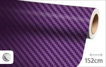 Paars 3D carbon wrap vinyl
