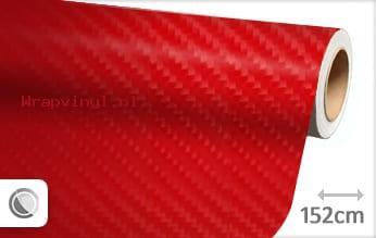 Rood 4D carbon wrap vinyl