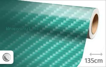 Turquoise 2D carbon wrap vinyl