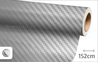 Zilver chroom 3D carbon wrap vinyl