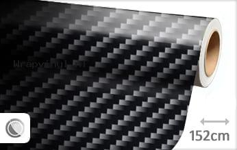 Zwart 2D carbon wrap vinyl