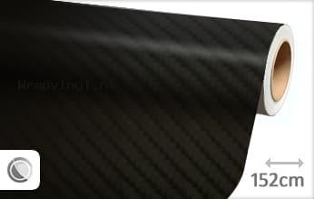 Zwart 4D carbon wrap vinyl