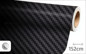 Zwart 3D carbon groot wrap vinyl